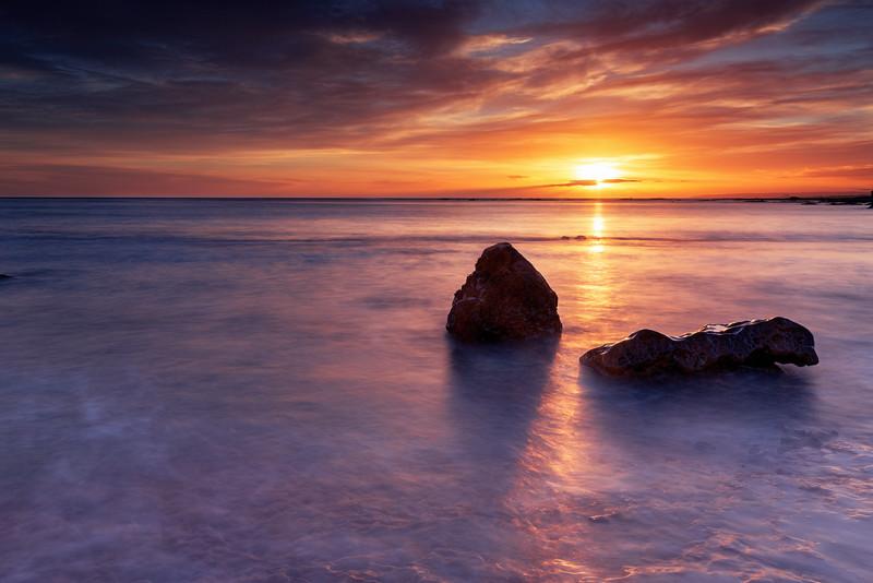 Dramatic Sunrise Overlooking Seacliff Beach