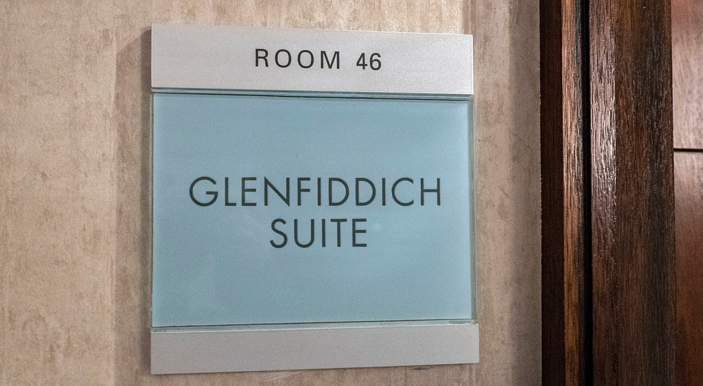 The Glenfiddich Suite at the Glasshouse Hotel in Edinburgh