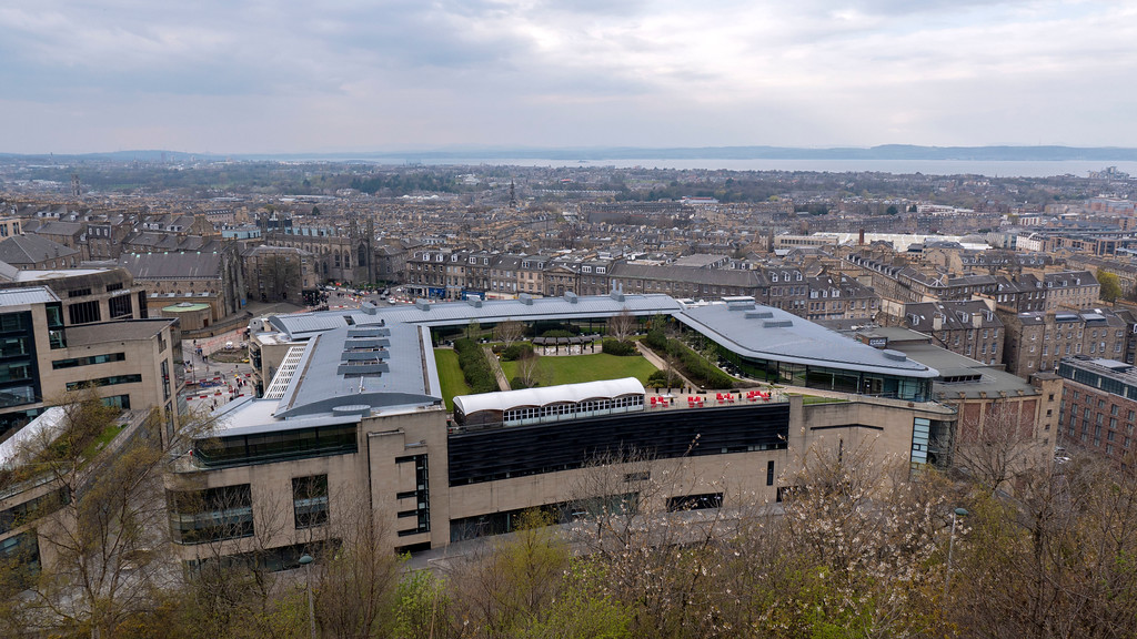 The Glasshouse Hotel in Edinburgh: View from Calton Hill of the hotel