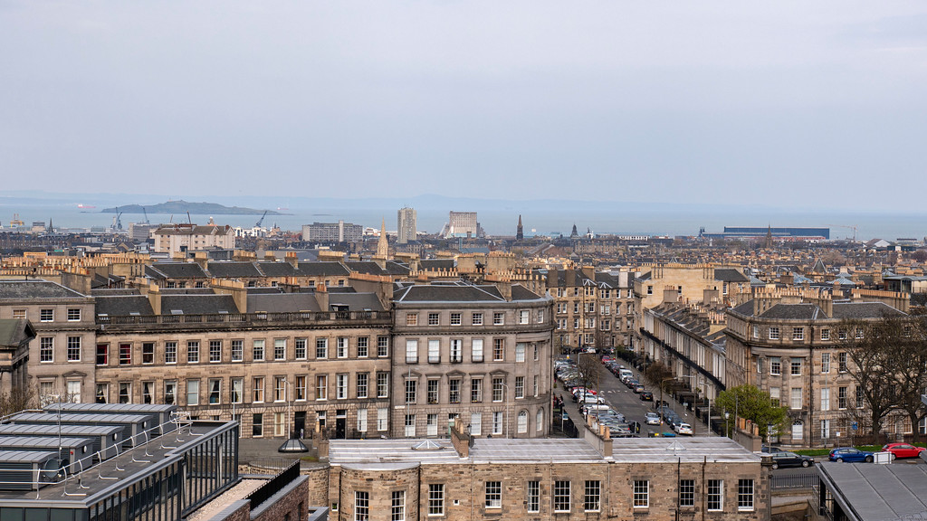 The Glasshouse Hotel in Edinburgh: Views from the rooftop