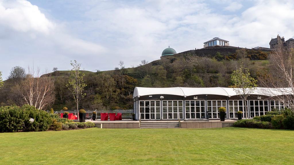 The Glasshouse Hotel in Edinburgh: The roof garden