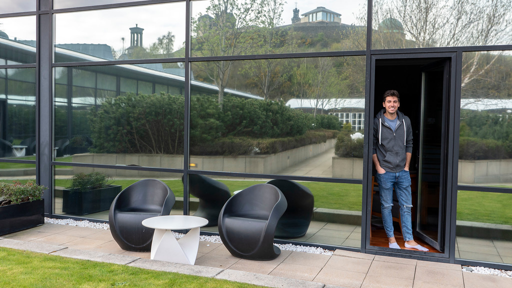 The Glasshouse Hotel in Edinburgh: Our sitting area facing the courtyard
