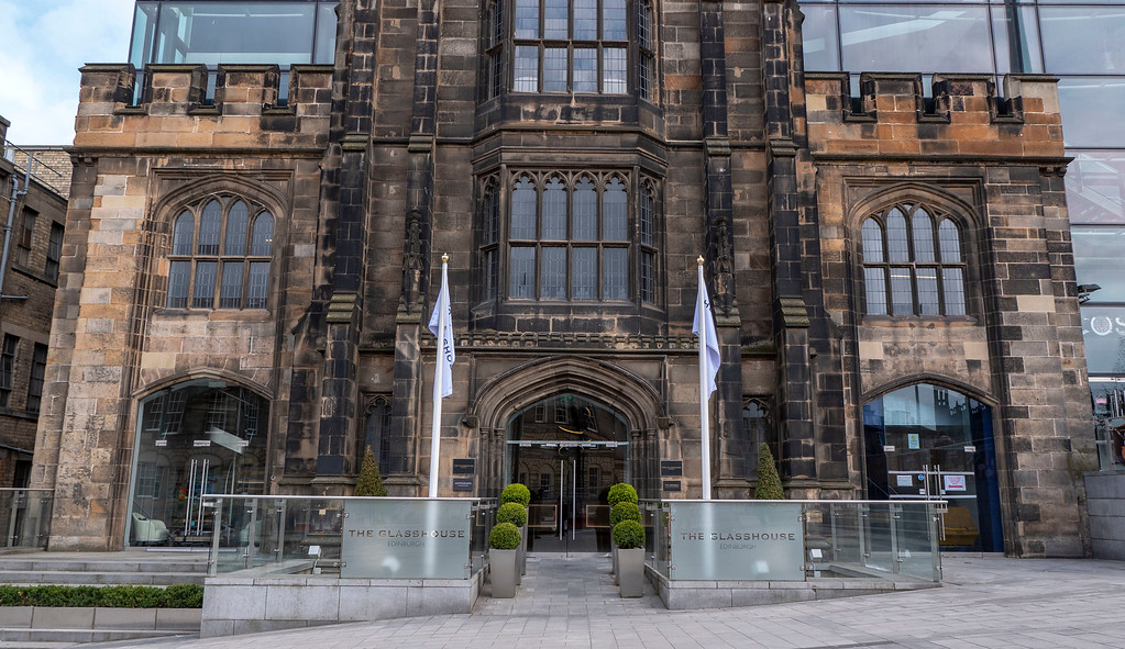 The Glasshouse Edinburgh - Luxury hotel - Facade of historic church