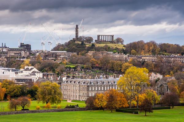 Holyrood Palace and Calton Hill in Edinburgh