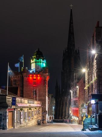 Edinburgh's Royal Mile at night
