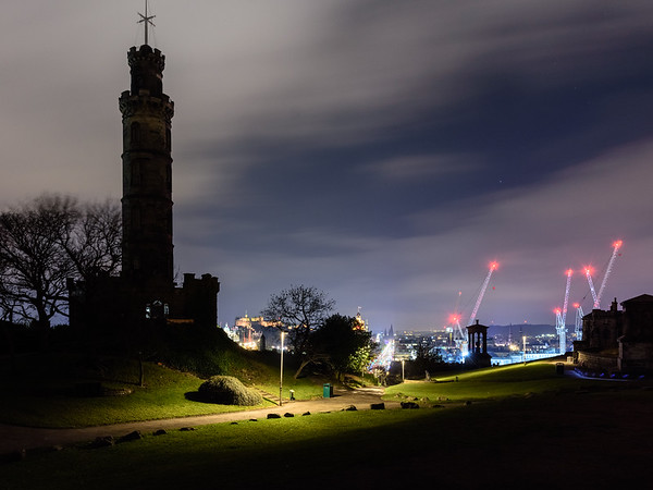 Calton Hill park in Edinburgh