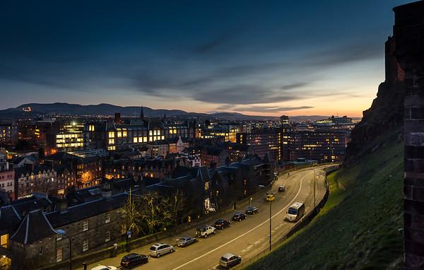 Sunset over Johnston Terrace