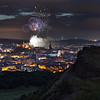 Virgin Money Fireworks Display Taken from Arthur's Seat
