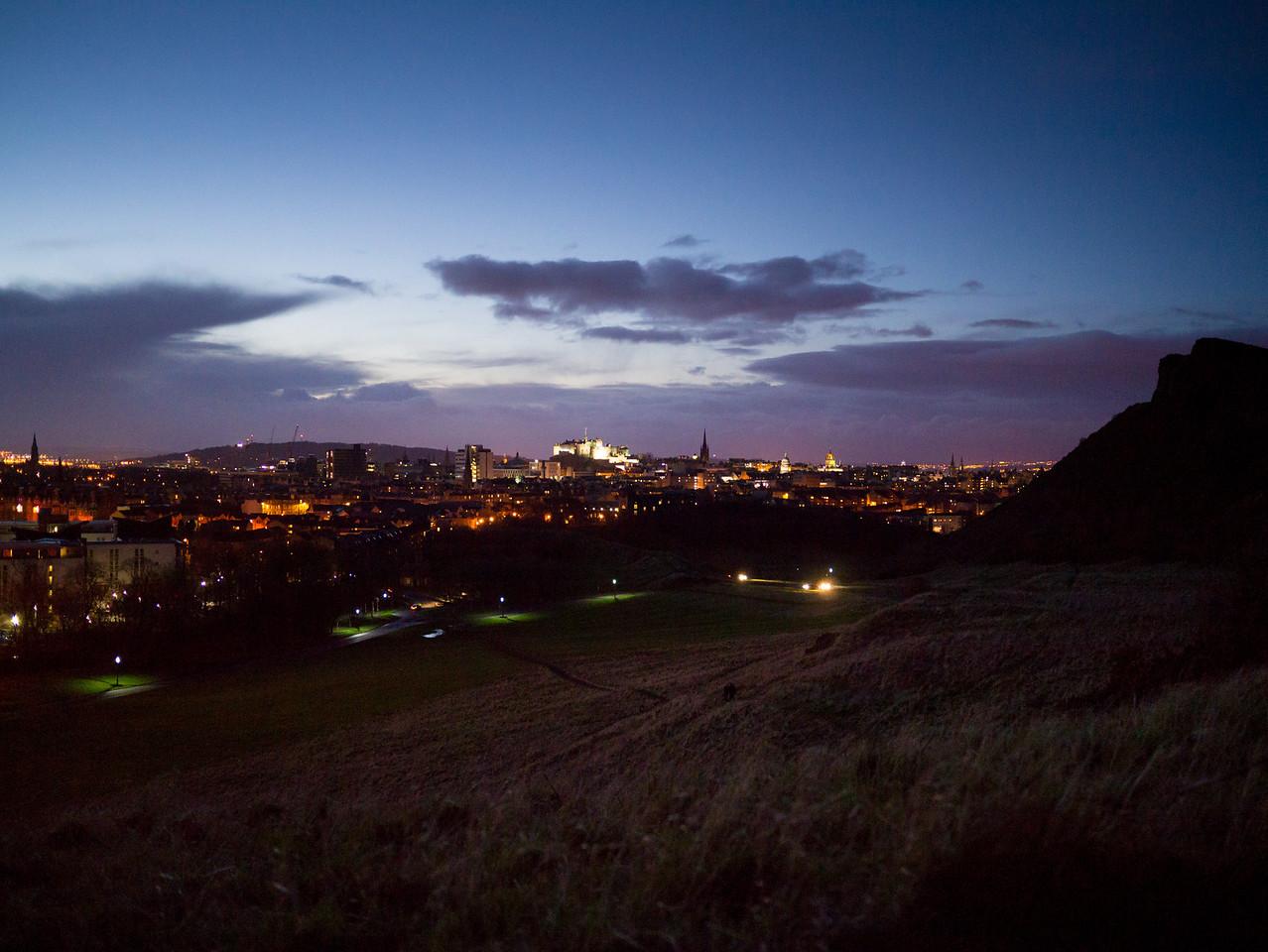 Edinburgh Castle all lit up