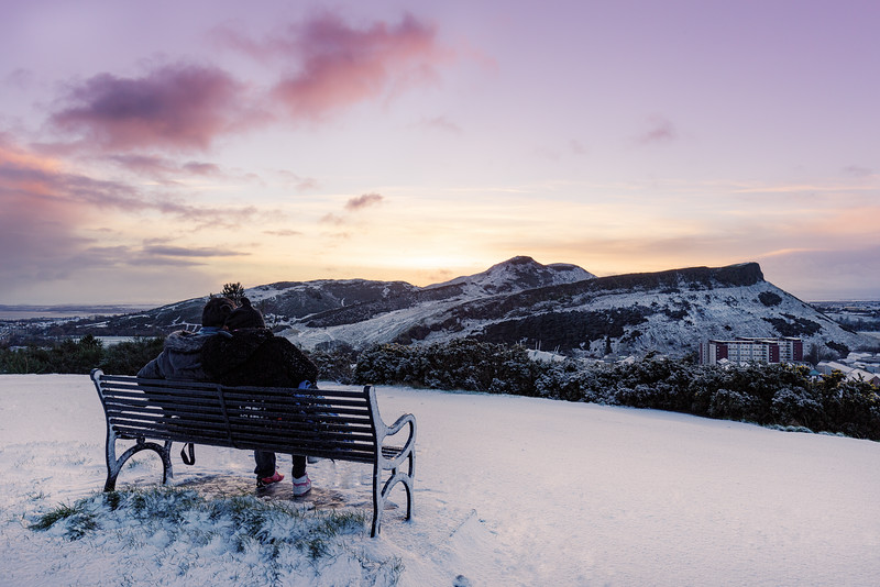 Winter Sunrise Overlooking Arthur's Seat