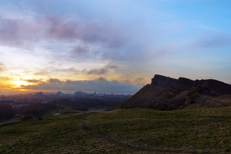 Early Spring Sunset Overlooking Salisbury Crags