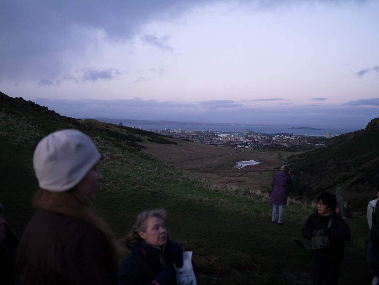 Looking over Edinburgh towards the Forth