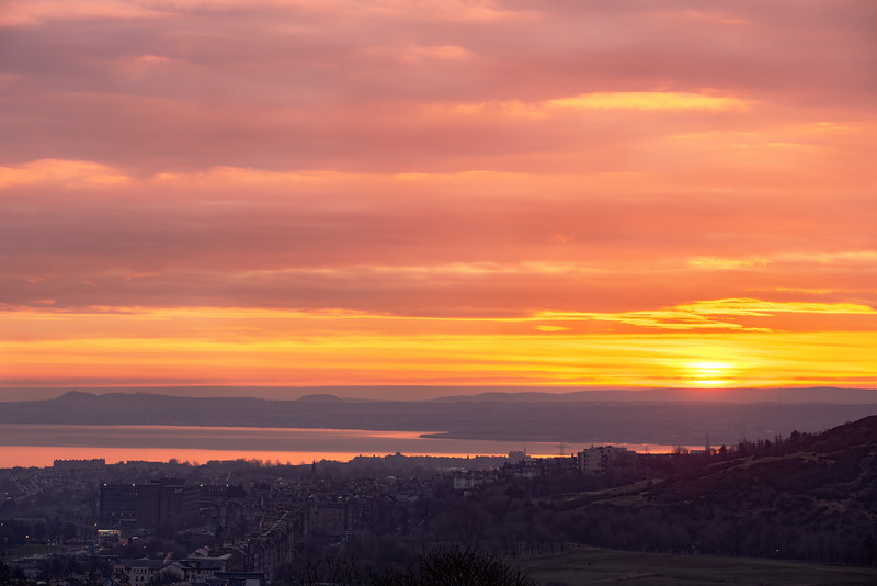 Spectacular Sunrise Overlooking East Lothian & Arthur's Seat