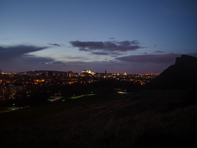 Edinburgh Castle all lit up