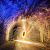 Wire Wool Spinning in Innocent Railway Tunnel