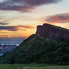Salisbury Crags at Sunset