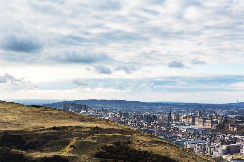 Overlooking Edinburgh from Arthur's Seat