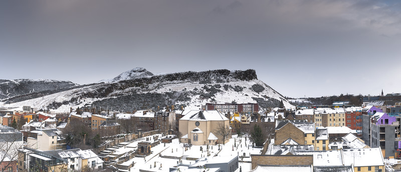 Arthur's Seat Covered in Snow