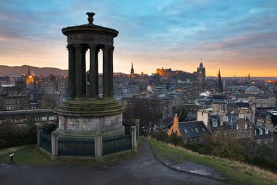 First Light Over Edinburgh Taken From Calton Hill