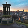 First Light Over Edinburgh Taken From Calton Hill