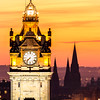Balmoral Hotel Clock Tower at Sunset