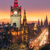 The Balmoral Hotel, Scott Monument & Princes Street During Twilight