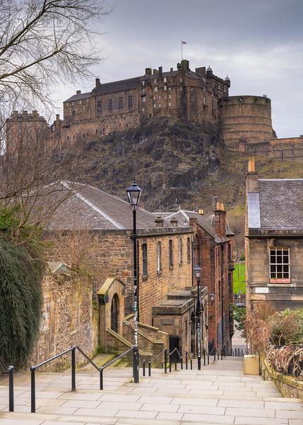 Edinburgh Castle Taken from The Vennel Steps