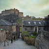 The Vennel Overlooking Edinburgh Castle at Sunrise