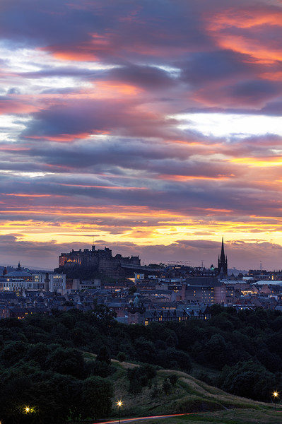 Edinburgh Castle at Sunset Taken from Arthur's Seat