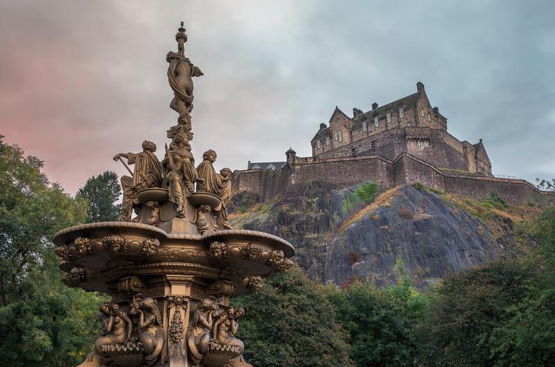 The Ross Fountain & Edinburgh at Sunrise