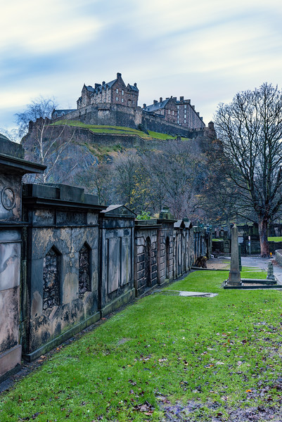 Edinburgh Castle Taken from St Cuthbert's Church