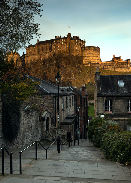 First Light Over Edinburgh Castle