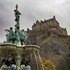 The Ross Fountain & Edinburgh Castle on Overcast Day