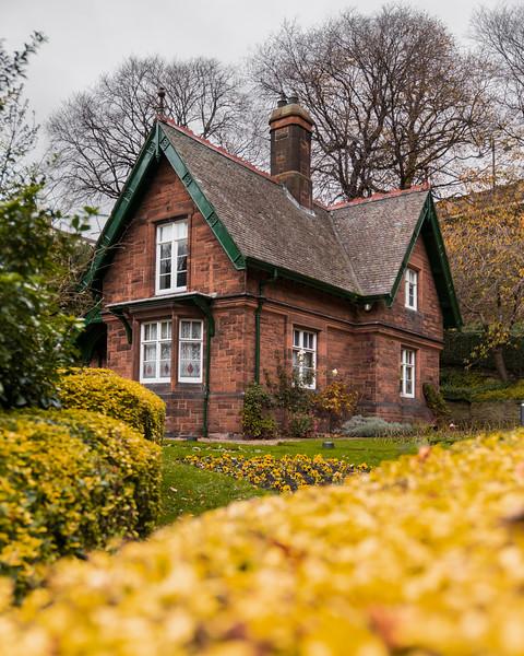 The Gardener's Cottage in Princes Street Gardens