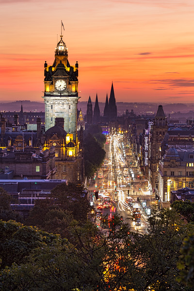 Sunset Looking Down Princes Street