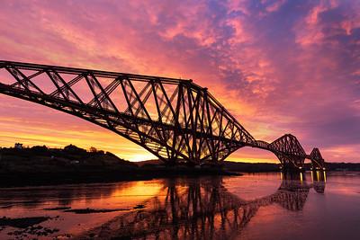 The Forth Bridge at Sunrise