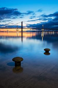 The Forth Road Bridge During Twilight