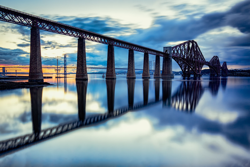 The Forth Bridge at Sunset