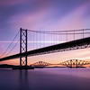 Sunrise Overlooking The Forth Road Bridge