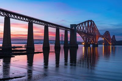 The Forth Bridge During Twilight