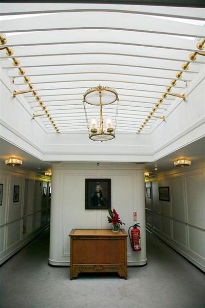 Corridor outside the Royal Cabins
