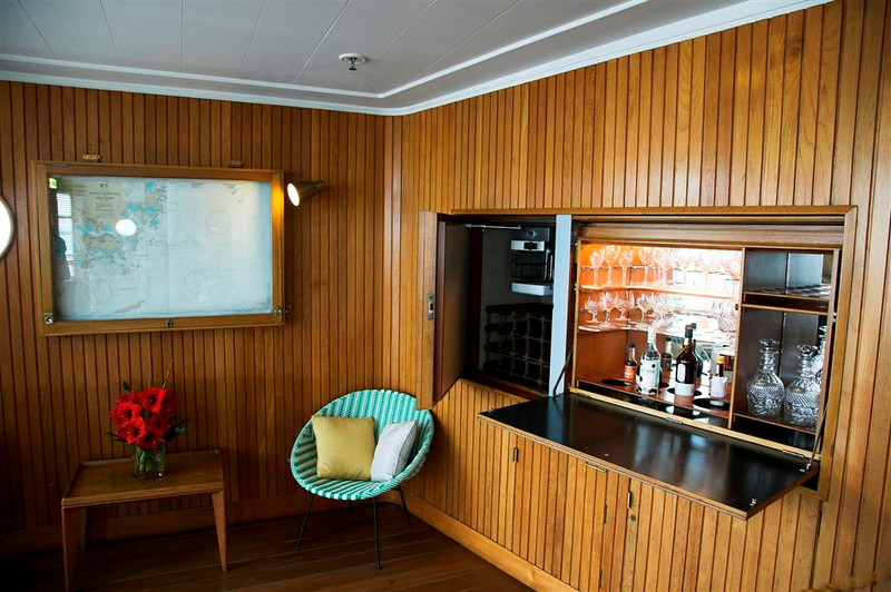 The drinks cabinet in the sun lounge