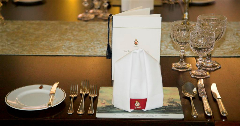 Place setting in the Main Dining Room