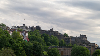 Looking up towards the castle from waverley