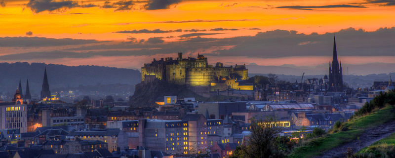 Moody Edinburgh Castle