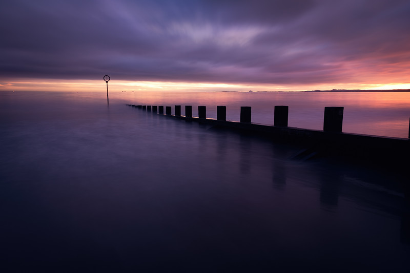 Moody Sunrise Over Portobello Beach