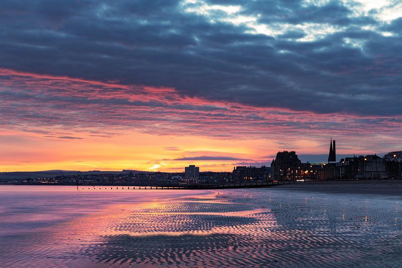 Winter Sunrise Overlooking Portobello Beach
