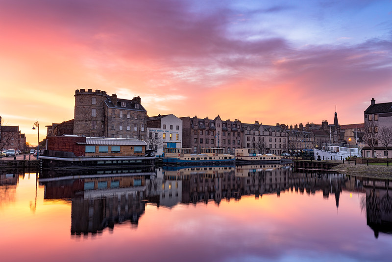 Sunsrise Overlooking the Water of Leith