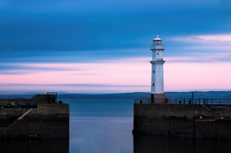 Newhaven Harbour Lighthouse at Sunrise
