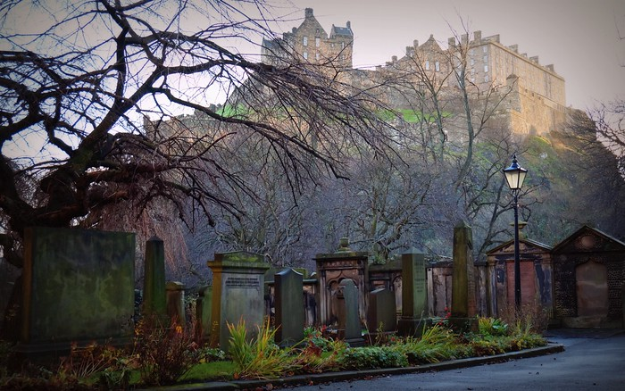 Saint Cuthbert's Burial Ground by Edinburgh Castle.